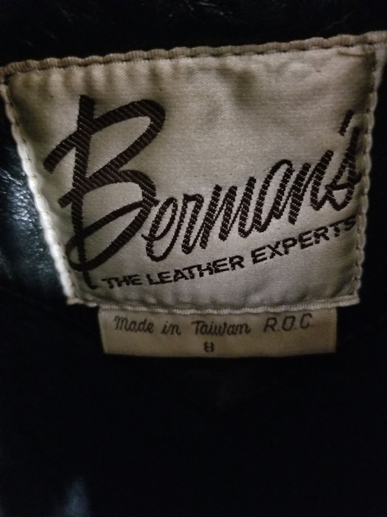 Bermans authentic leather jacket