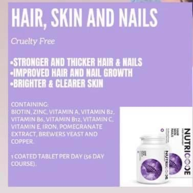 Hair skin & nails tablets