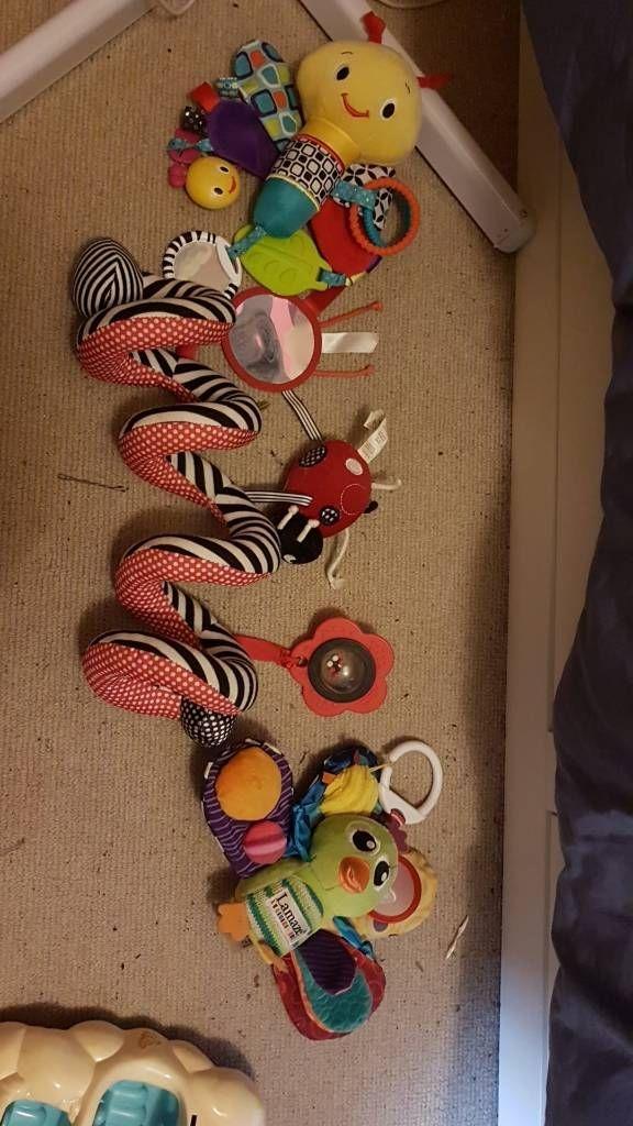 Assorted pram toys