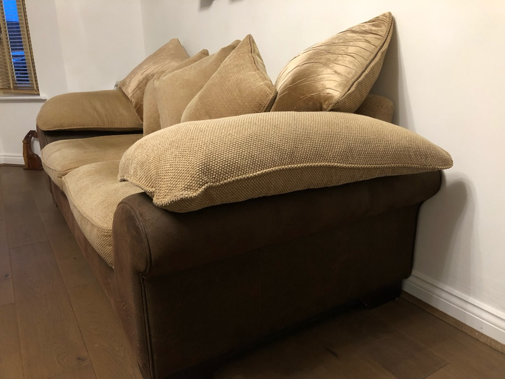 Two three seater settees
