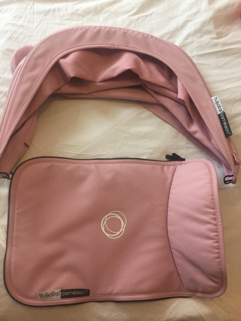 Bugaboo Chameleon Pale Pink hood & apron set