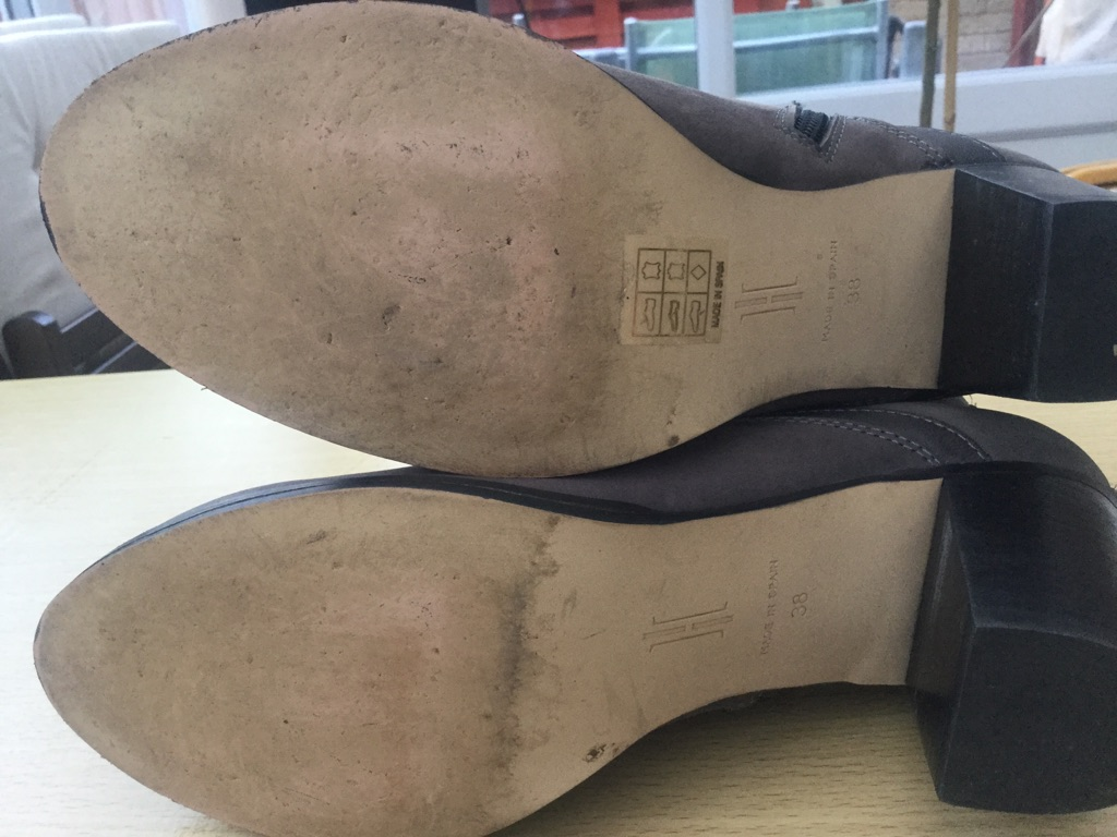 Hobbs suede boots size 5