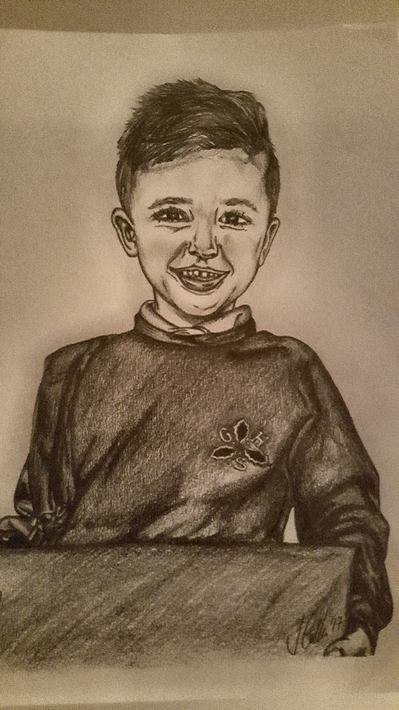 A4 graphite pencil drawings portraits. People or pets.