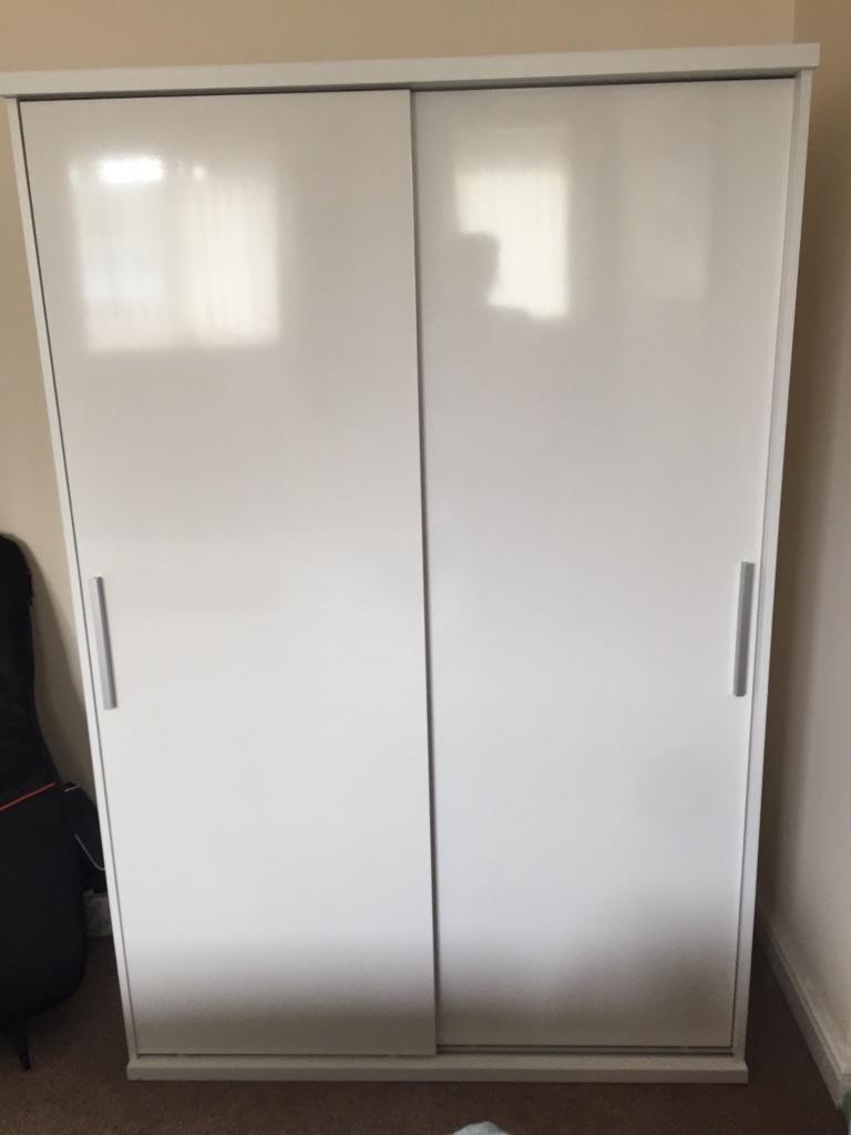 Double high gloss wardrobe
