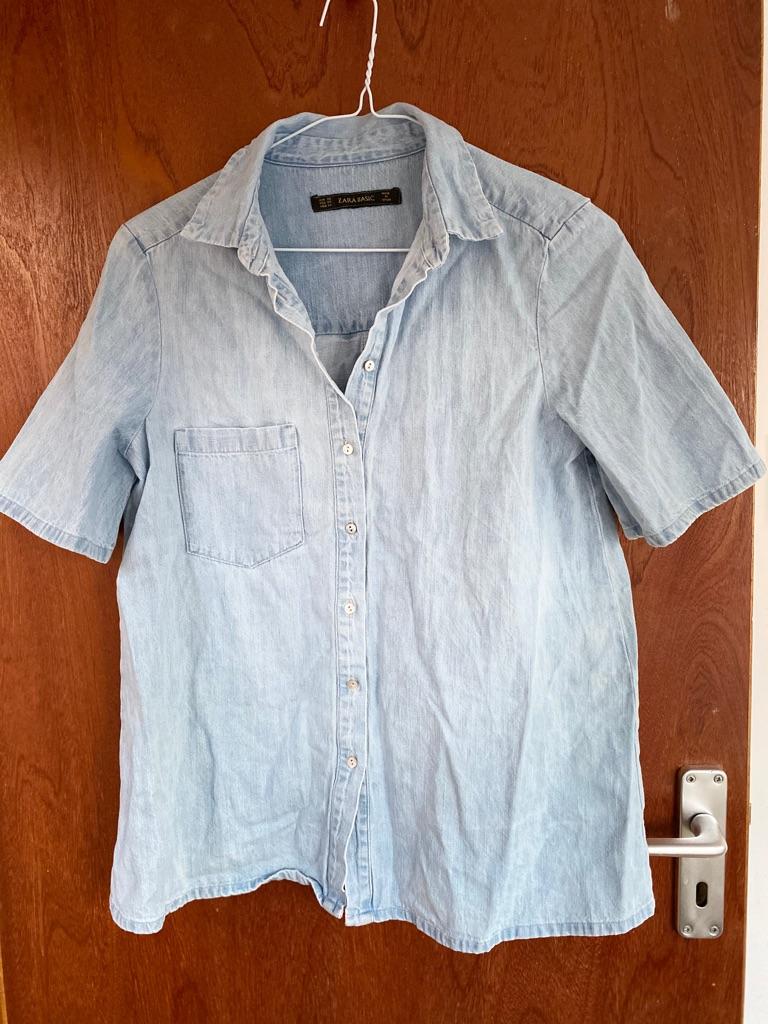 Zara women's denim shirt