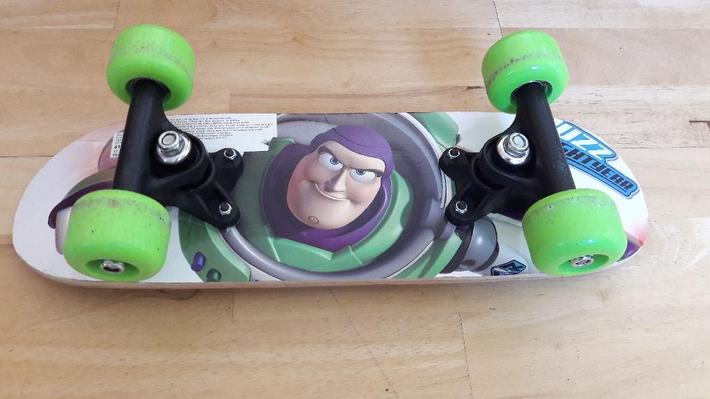 Disney store Buzz Lightyear skateboard in original bag