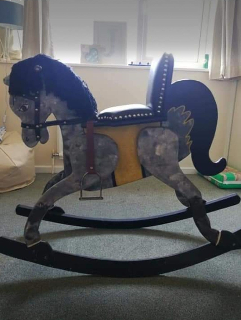 Baby toy, Child's toy Antique Rocking Horse