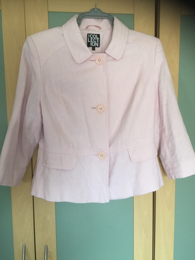 Pale pink Debenhams collection jacket size 14