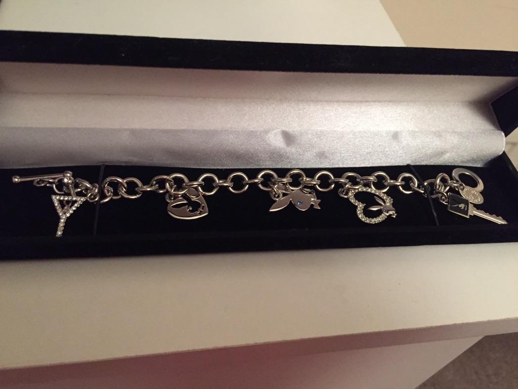 Brand New Playboy Charm Bracelet