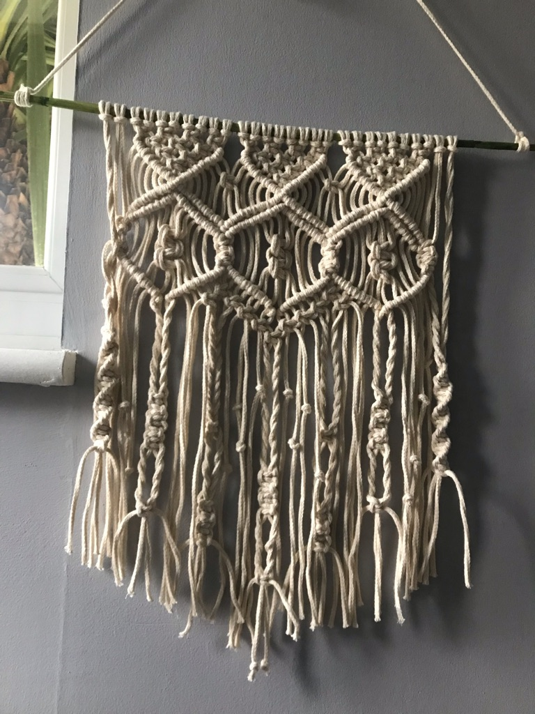 Wall hanging handmade macrame home decoration
