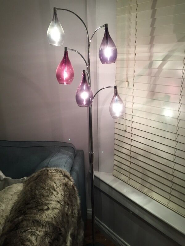 Next Hanbury Floor Lamp Plum