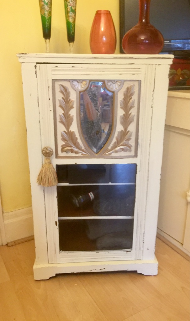 Antique shabby chic cabinet