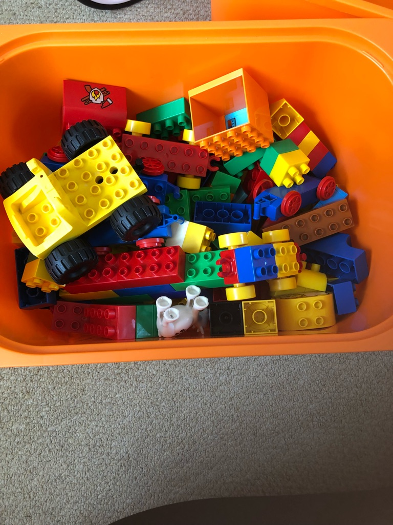 Mixture of duplo and mega blocks