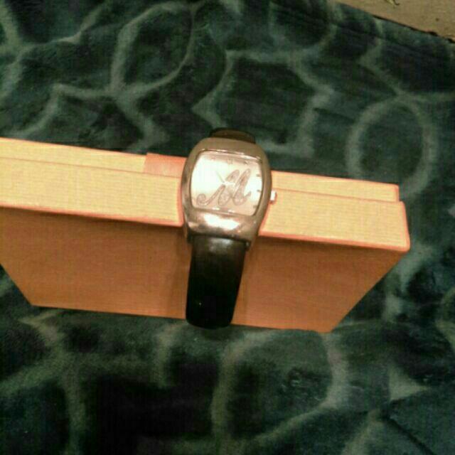 Rectangular Silver Analog Watch