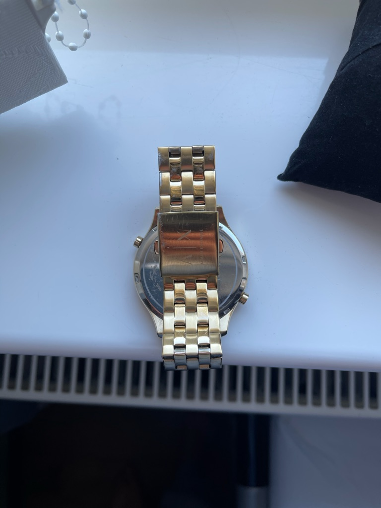 Mens gold Armani Exchange watch