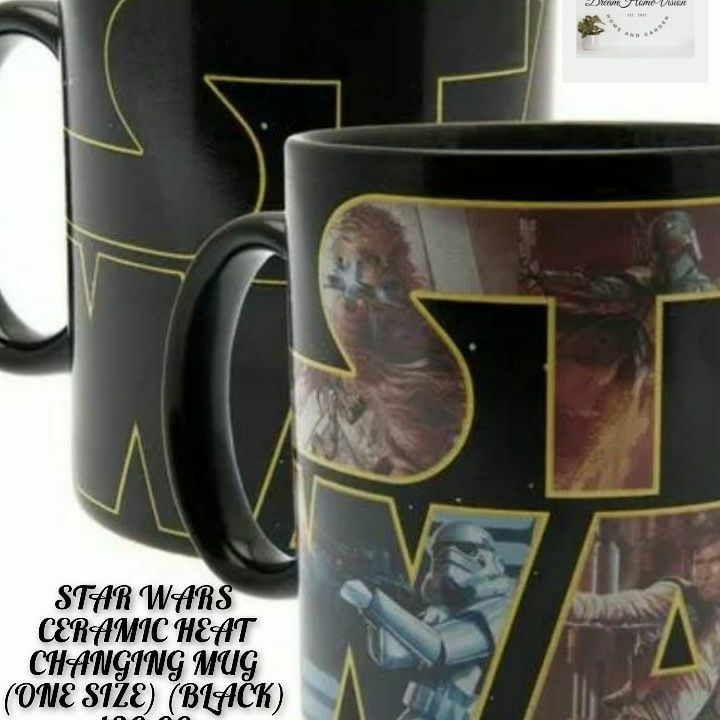Any star wars fans out there. STAR WARS CERAMIC HEAT CHANGING MUG (ONE SIZE) (BLACK)