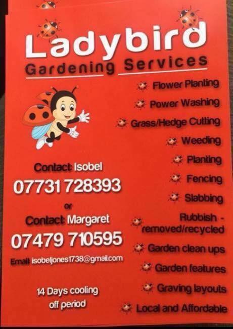 Ladybird gardening service Free Qoutes