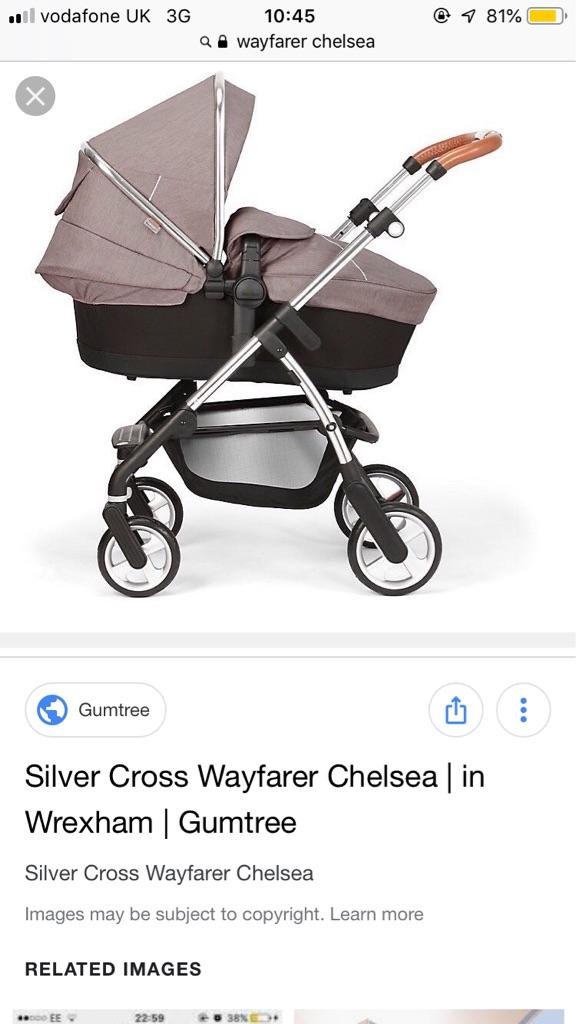 Silver cross wayfarer Chelsea