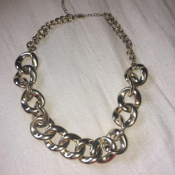 Plastic gold chain