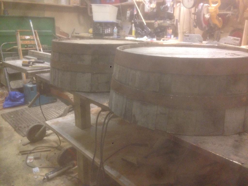 Whiskey barrel tops