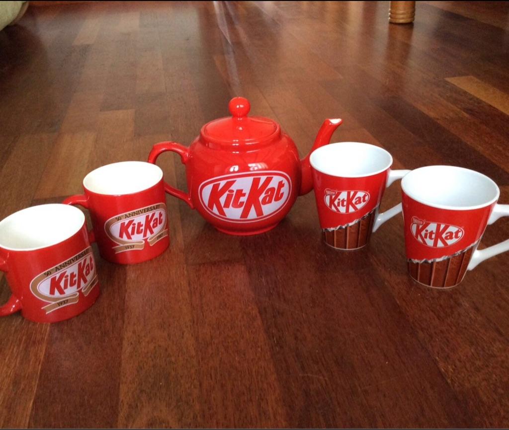 Kit Kat collectibles mugs and teapot