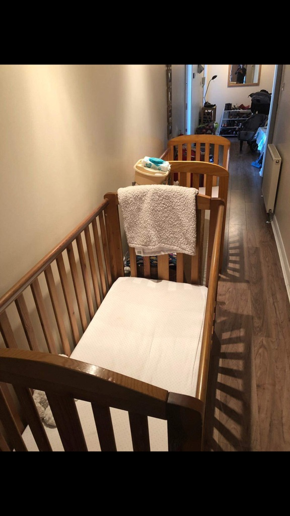 2 wooden cots (Mamas & Papas)