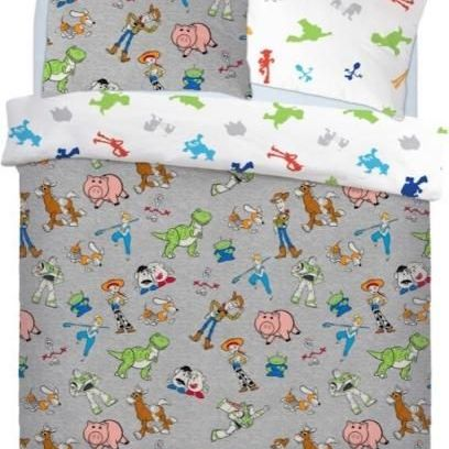 "Official Disney Toy Story 4 ""Reversible"" Duvet Cover with Matching Pillow Case Bedding Set"
