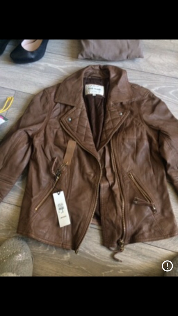 Brand new River Island leather jacket size 10