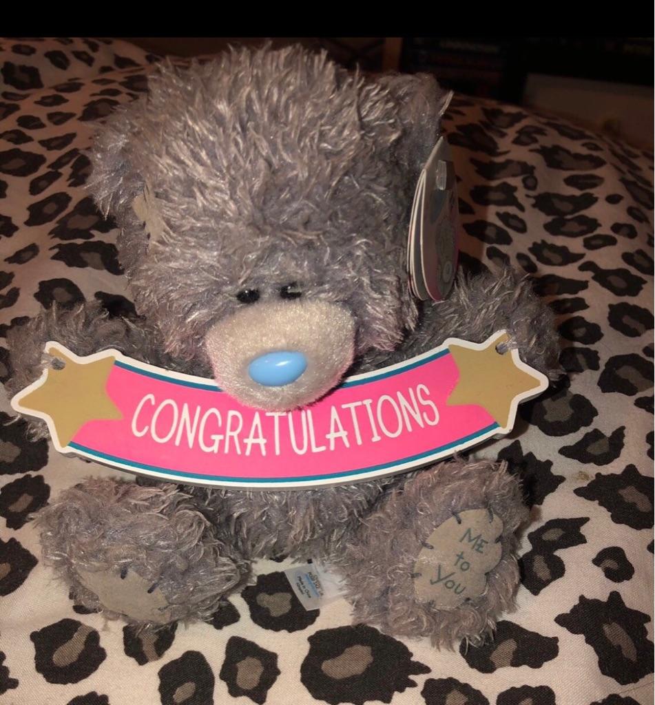 Me to you congratulations Bear