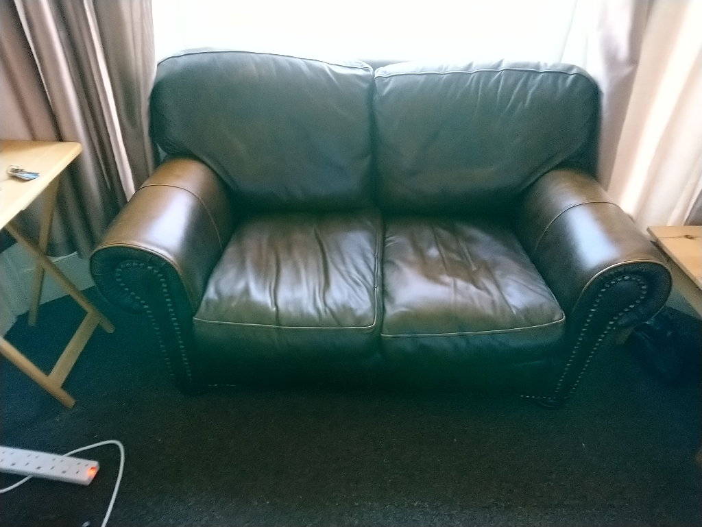 Chesterfield style cushion 2seater sofa