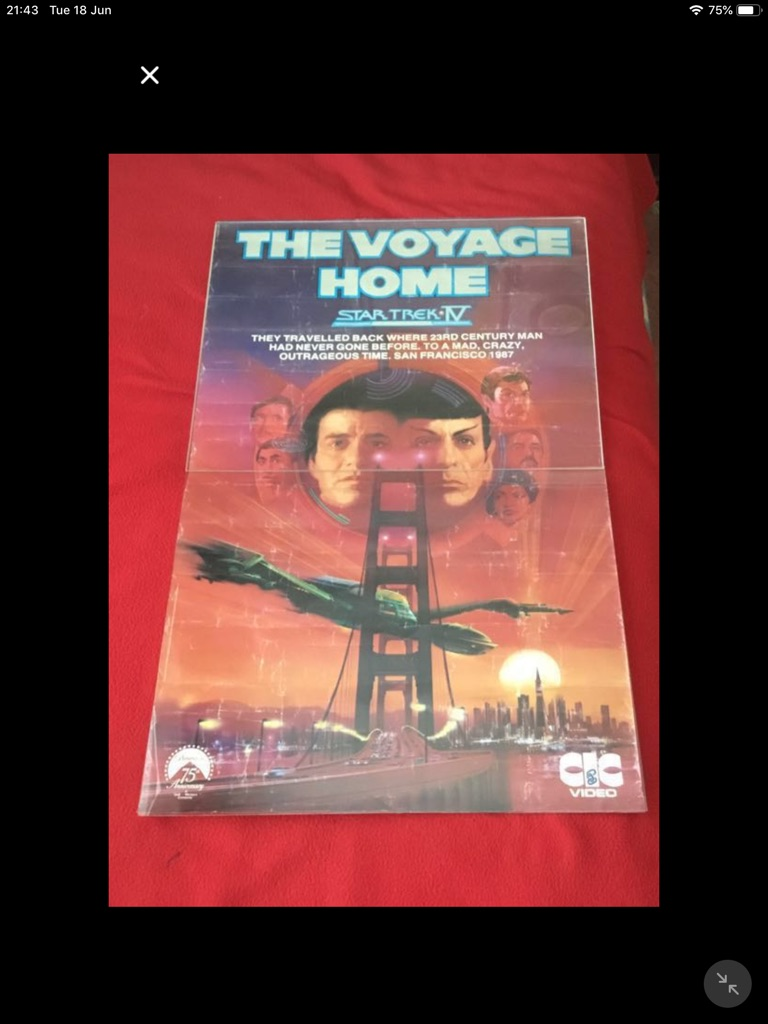 Orignal Star Trek 1V the voyage home 1987 poster Leonard nemoy 20in 32in