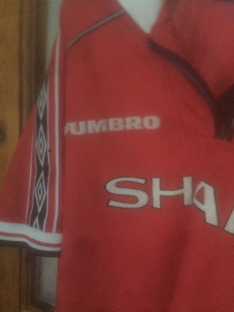 Manchester United old football shirt