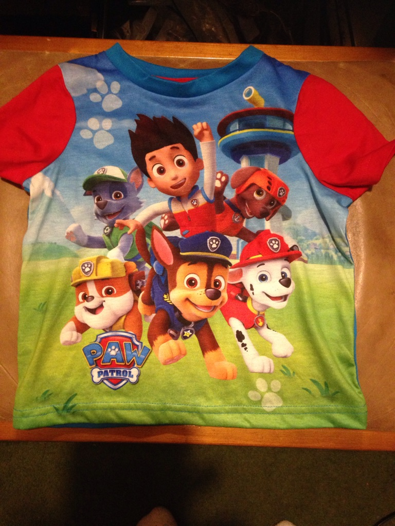 Paw patrol tops 18 to 24 months