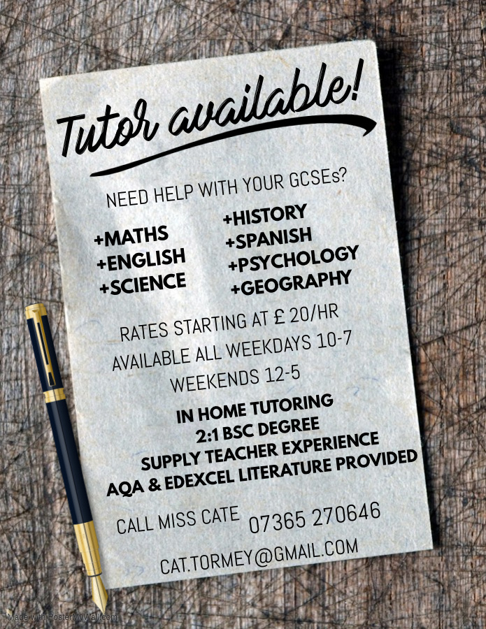Tutor available!