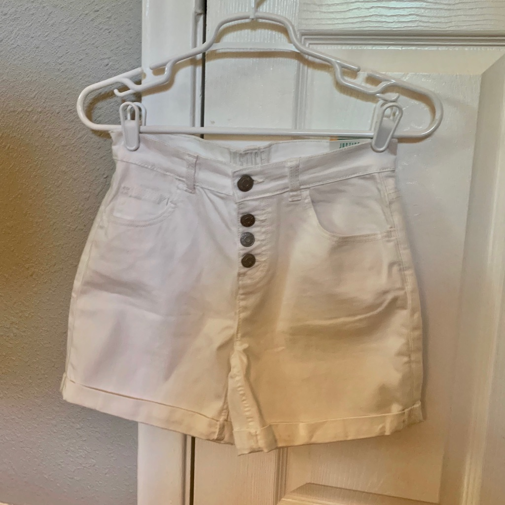 Brand New With Tags White High Rise Midi Shorts from Justice