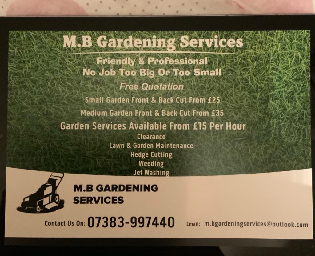 M.B Gardening Services
