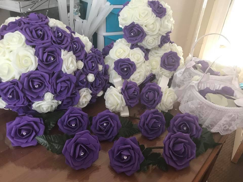 Wedding Flowers made to order brides bridesmaids flower girl buttonholes