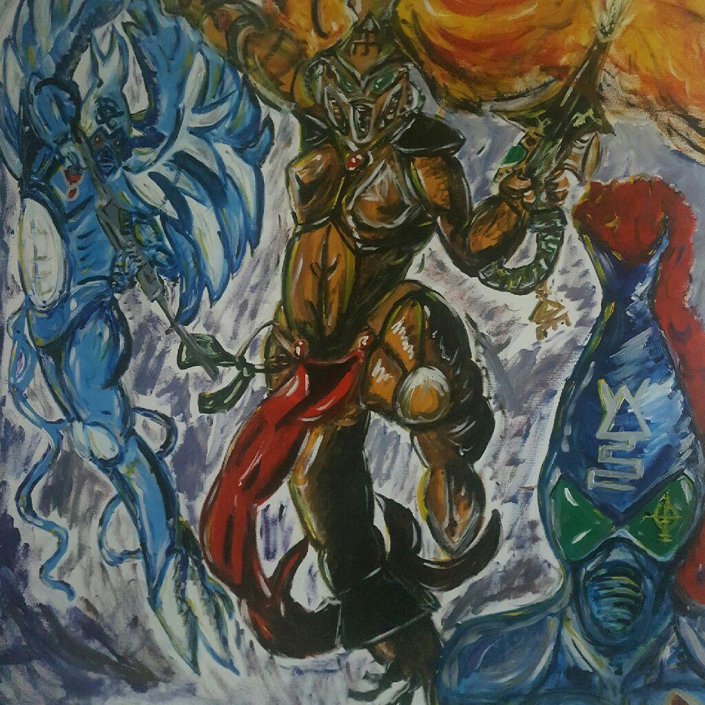 Eldar painting (warhammer 40k)
