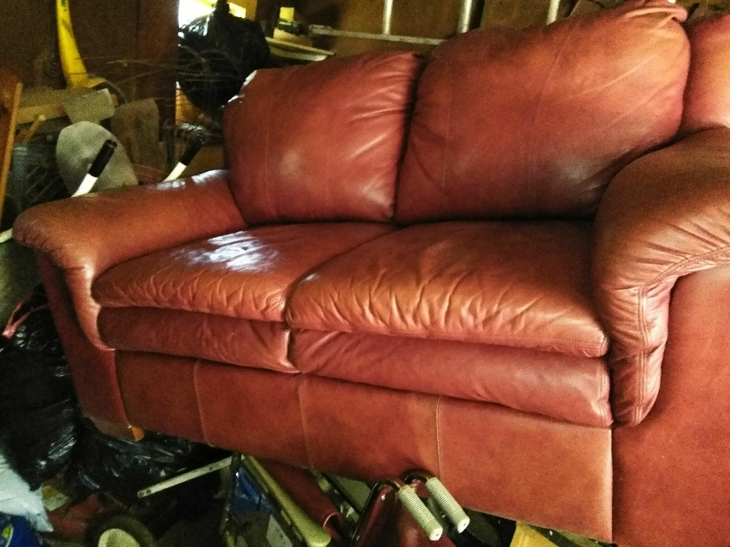 Leather loveseat (couch)