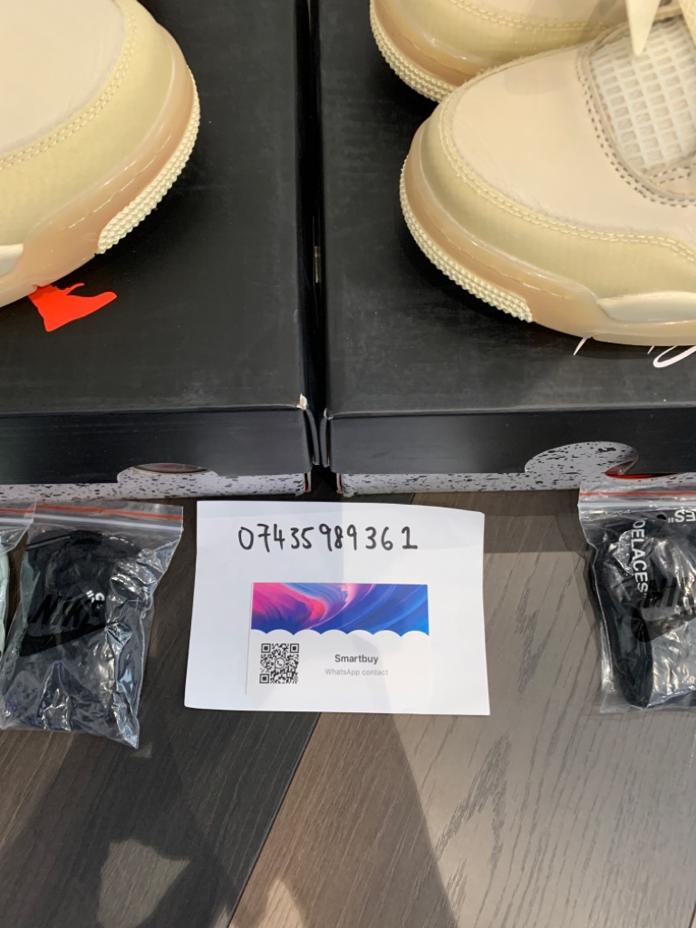 Nike AIR JORDAN 4 OFF WHITE SAIL UK7 / UK9 New