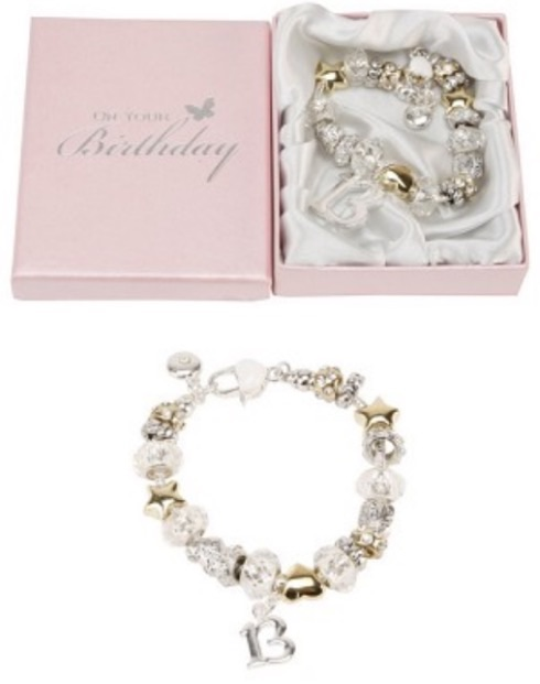 Birthday by Juliana silver and gold bead bracelet