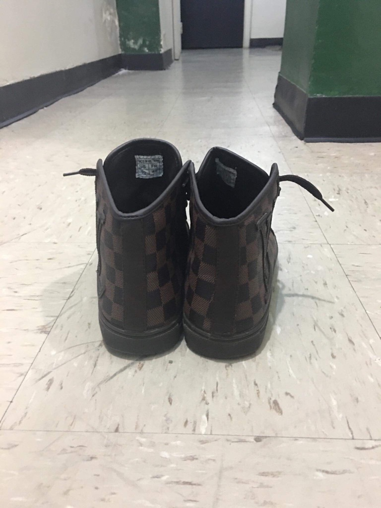 Louis Vuitton men brown sneakers