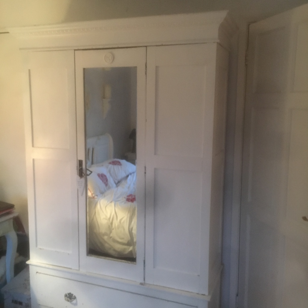 Antique Wooden Shabby chic double wardrobe