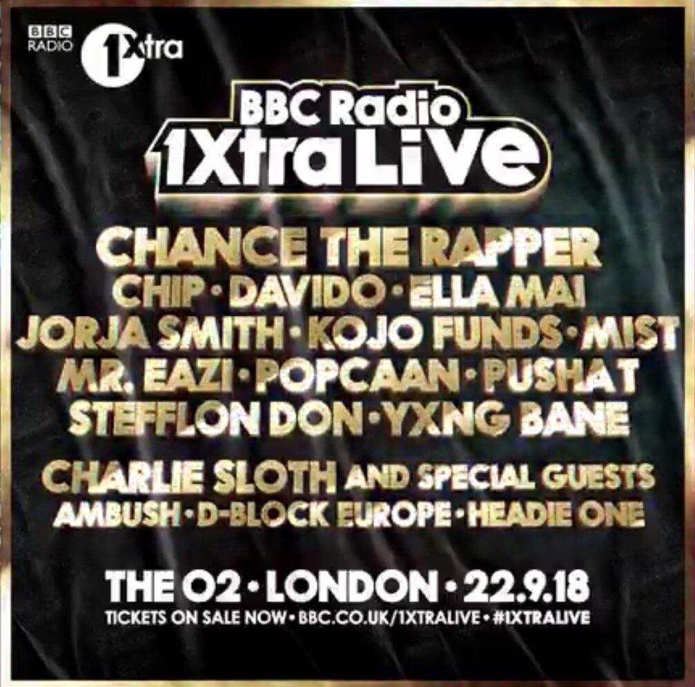 1xtra live concert tickets x2