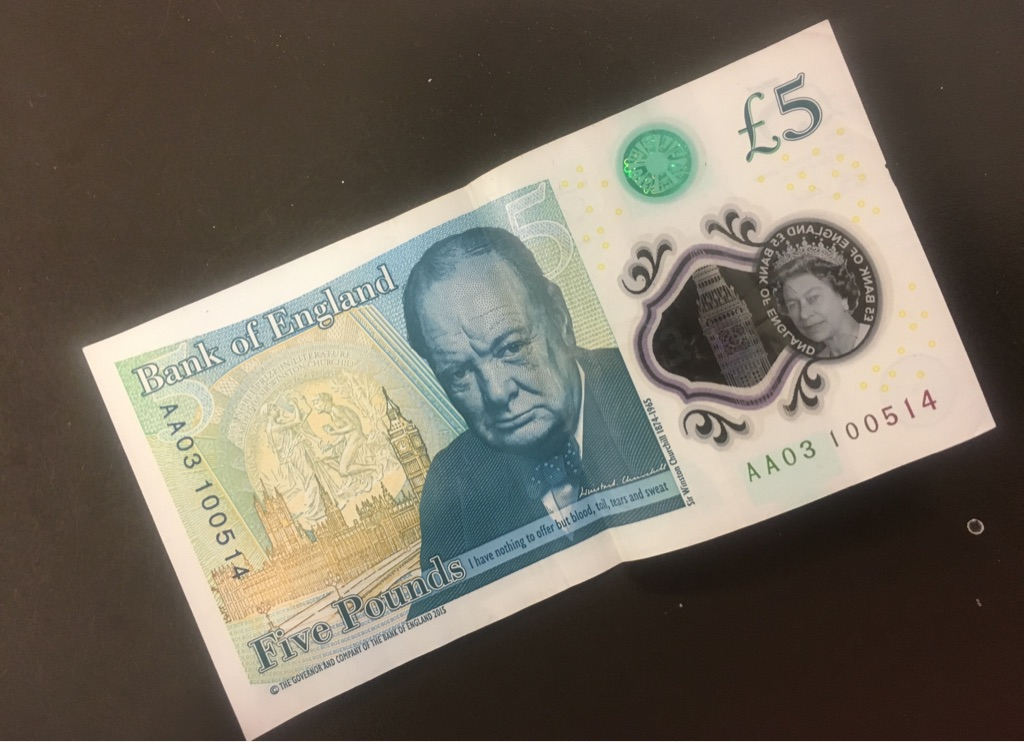 AA03 Note £5