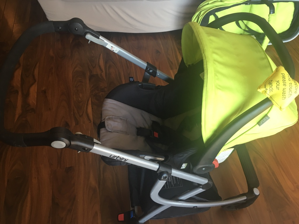 Urbini car seat, stroller, Bassinet system
