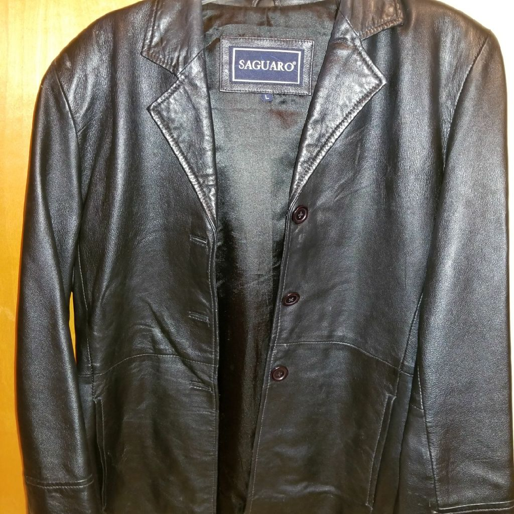 Genuine leather womans jacket