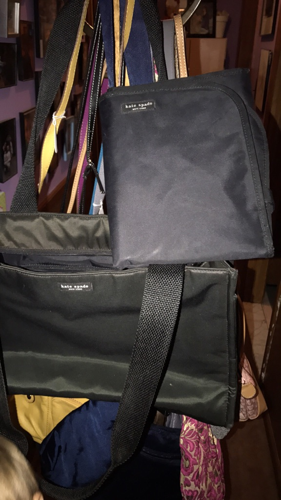 Kate spade diaper bag with a changing pad