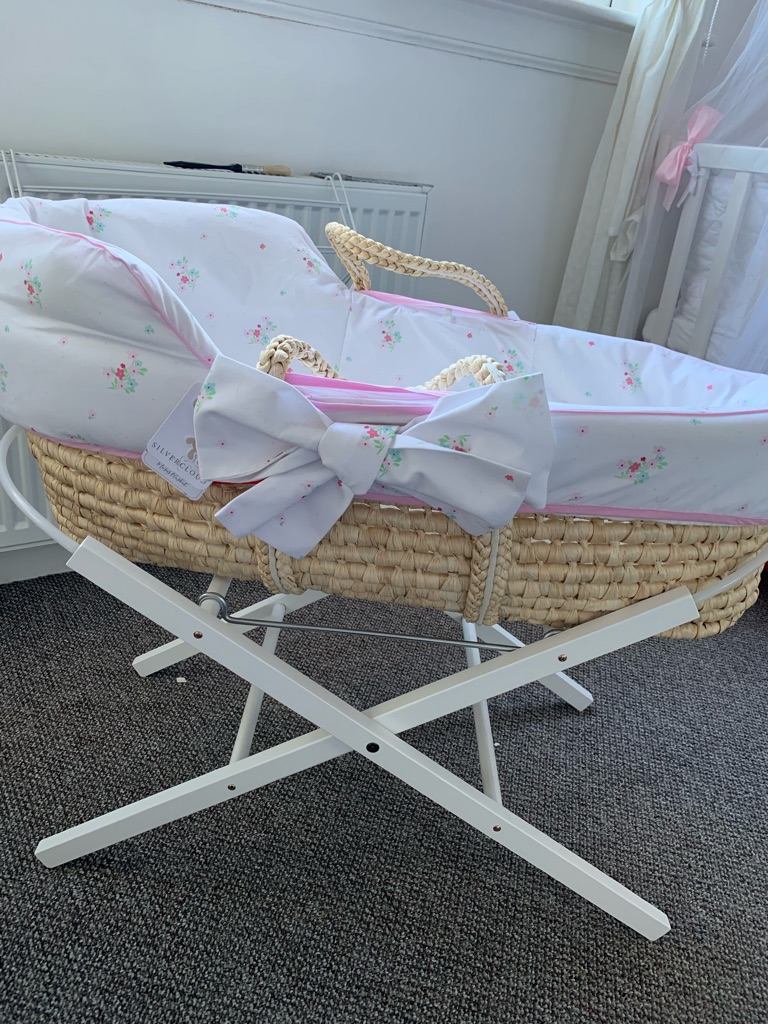 Baby Girl Moses basket