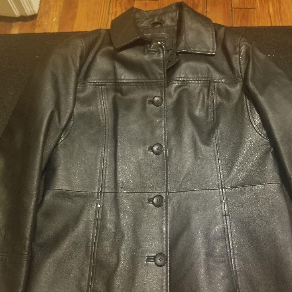 Women's Black Large leather jacket